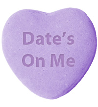 Date's on Me Gift from QuiBids for Share the Love Promotion