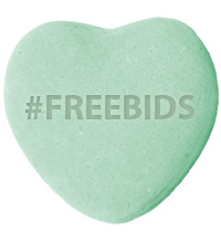 #FREEBIDS Gift from QuiBids for February Share the Love promo 2012