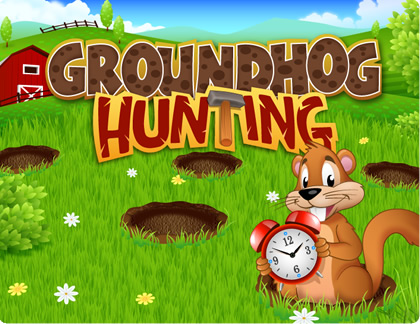 Whack Groundhogs and win tons of free bids with the QuiBids Game, Groundhog Hunting