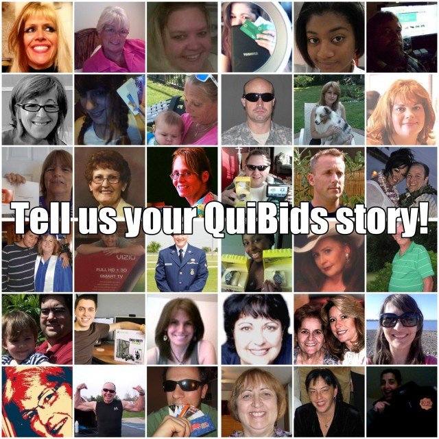 Tell your QuiBids story and win a $50 Gift Card of your choice!