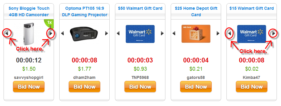 Quibids Home Page