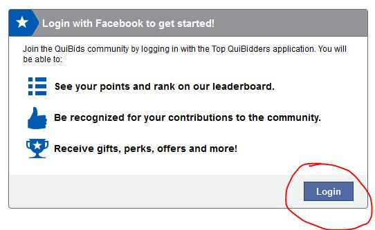 QuiBids' Top QuiBidders sign up box
