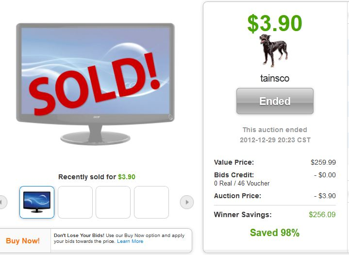 10 quibids acer hs274hlbmd 27 led lcd monitor quibids deal