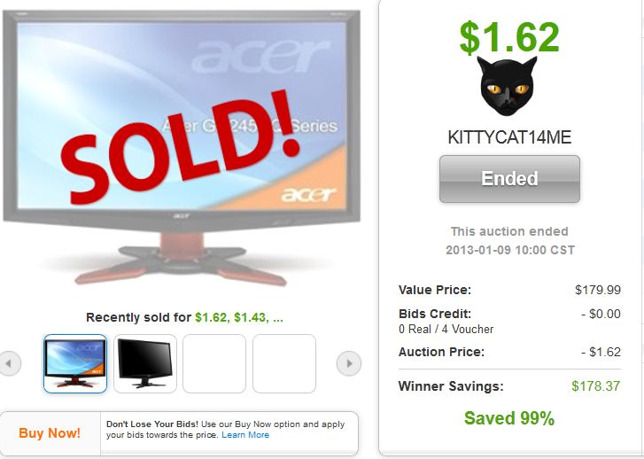 12 acer g245 236 inch lcd monitor quibids legit