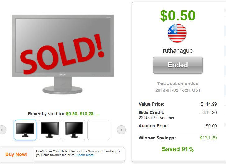 3 acer vs213hl 215 led lcd monitor quibids deal