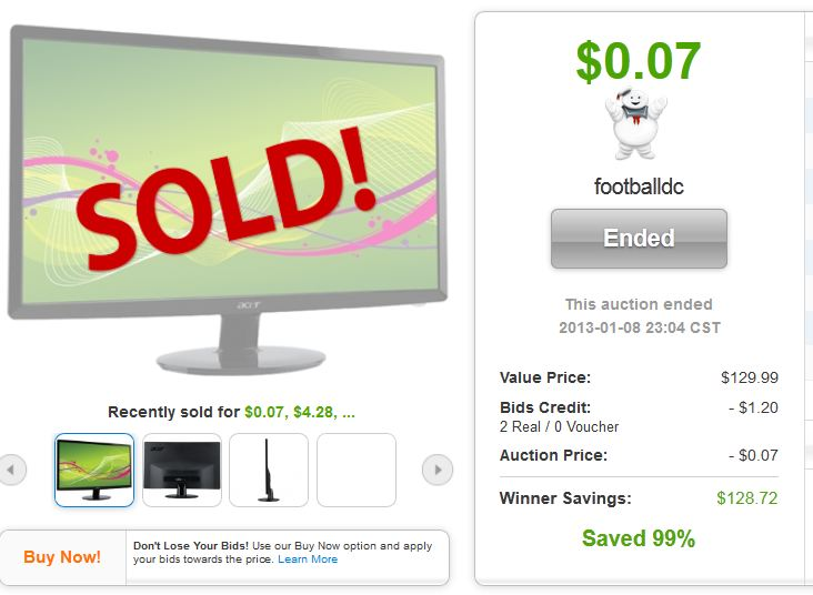 4 acer s200hlabd 20 led lcd monitor quibids deal