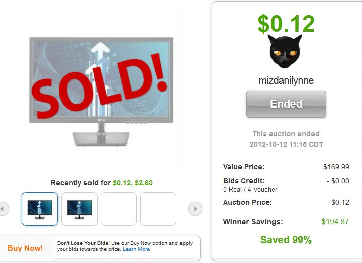 6 lg 22 inch pn monitor quibids deal