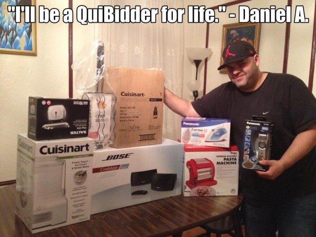 QuiBids' QuiBidder of the Week for the week of April 8, 2013 - Daniel A.