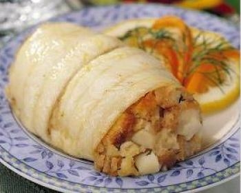 QuiBids Omaha Steaks Stuffed Sole with Scallops