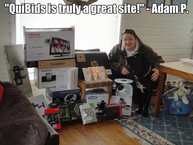 """QuiBids is truly a great site!"" - Adam P."
