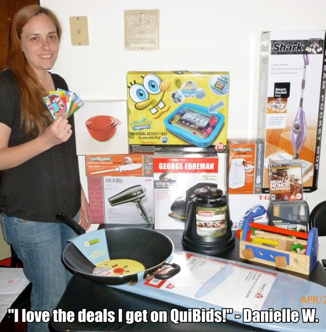 """I love the deals I get on QuiBids!"" - Danielle W."