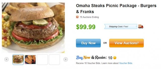 Omaha Steaks Burgers and Franks