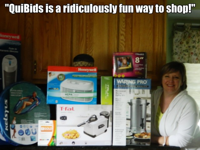 """QuiBids is a ridiculously fun way to shop! - Susan F., QuiBids' QuiBidder of the Week for the Week of June 17, 2013."