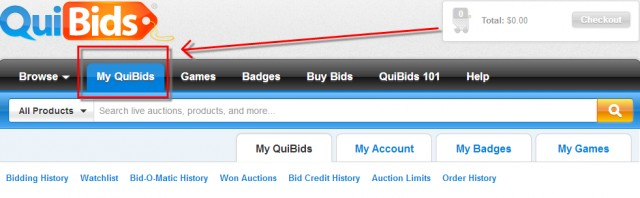 My QuiBids is your go-to QuiBids centralized hub for information.