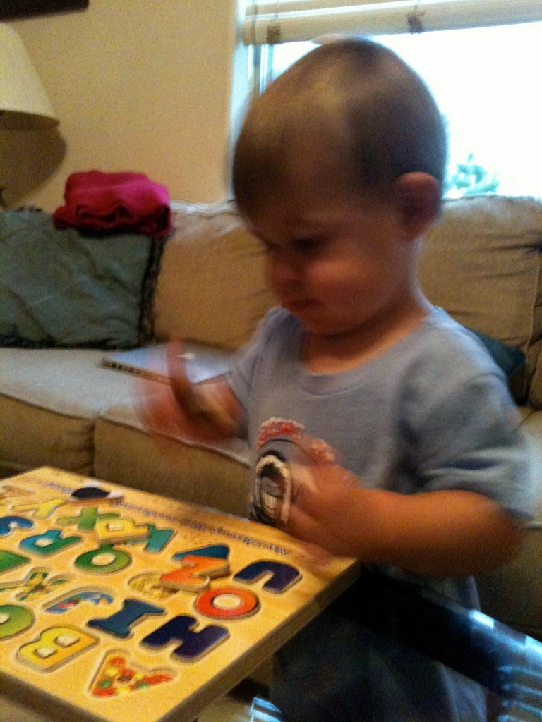 Karen C won a melissa & doug alphabet puzzle and her grandson loved the toy.