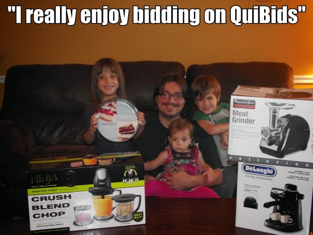 QuiBids Winnings from QuiBidder
