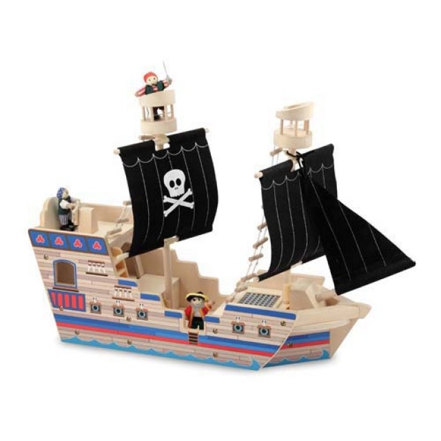 Melissa & Doug Deluxe Pirate Ship Playset on QuiBids