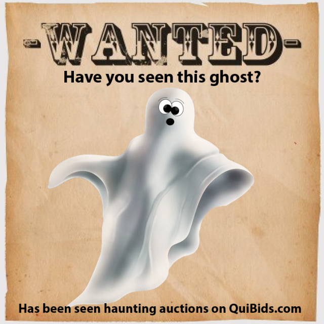 QuiBids halloween promotion ghost haunted auctions