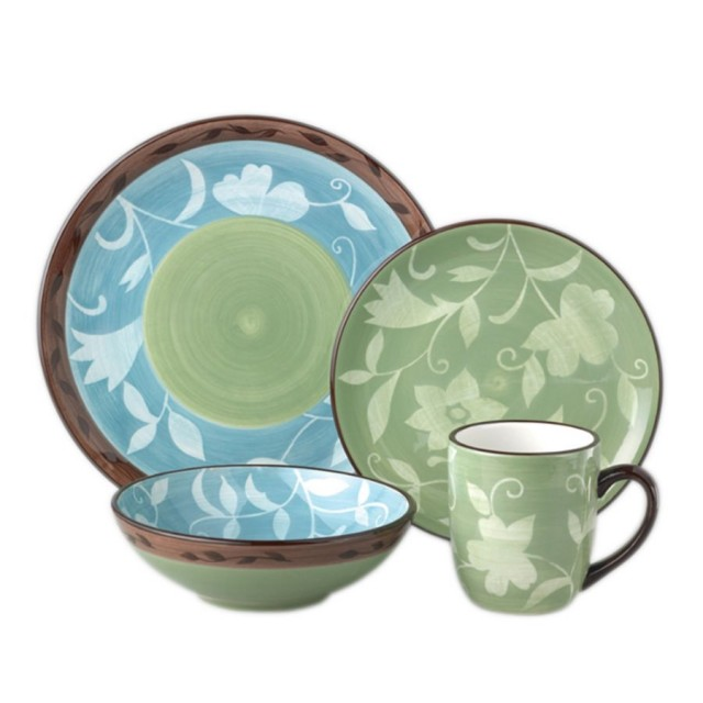 Patio Garden Dinnerware Set on QuiBids