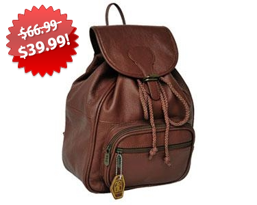 AmeriLeather Ladies' Leather Backpack 2013 Black Friday Deal on QuiBids