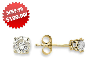 Diamond Stud Earrings 2013 Black Friday Deals on QuiBids