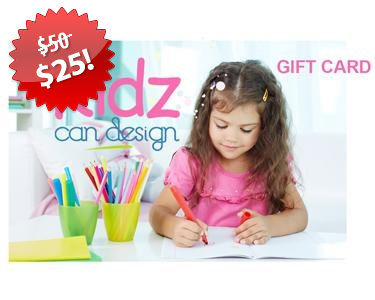 KidzCanDesign Gift Card Black Friday 2013 Deal on QuiBids