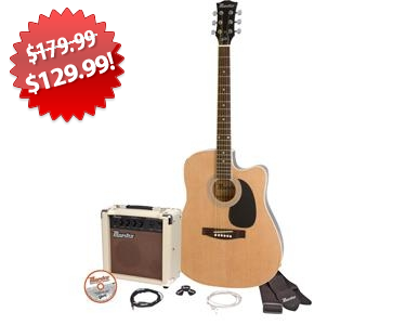 Gibson Acoustic Electric Guitar Pack Black Friday 2013 Deal on QuiBids