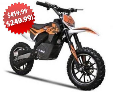 MotoTec Electric Dirt Bike 2013 Black Friday Deal on QuiBids