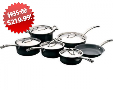 BergHOFF EarthChef Montane Ceramic Cookware Set 2013 Black Friday Deal on QuiBids