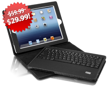 Aluratek Bluetooth iPad Case Black Friday 2013 Deal on QuiBids