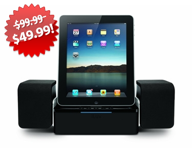 iLuv iphone and ipad speaker dock black friday 2013 deal on QuiBids