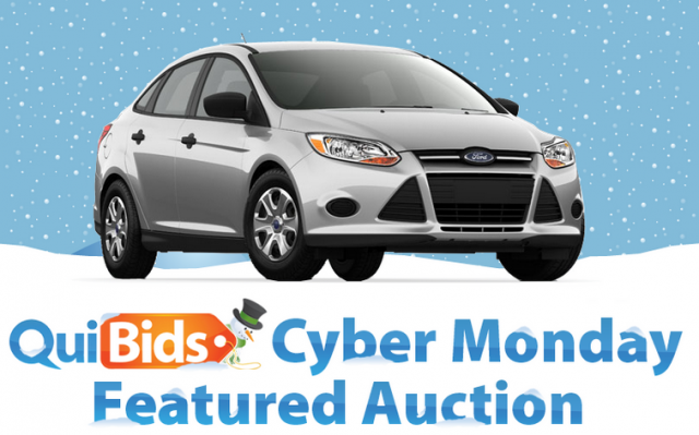 Free-to-Bid Ford Focus Cyber Monday auction on QuiBids