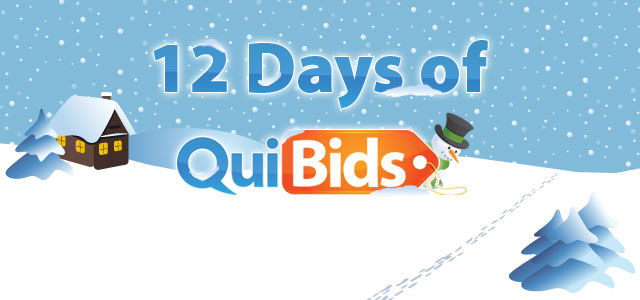 The 12 Days of QuiBids Giveaways