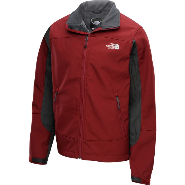 Red and grey North Face Jacket