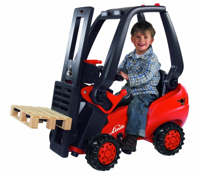 Big Linde Forklift Pedal Riding Toy - QuiBids.com