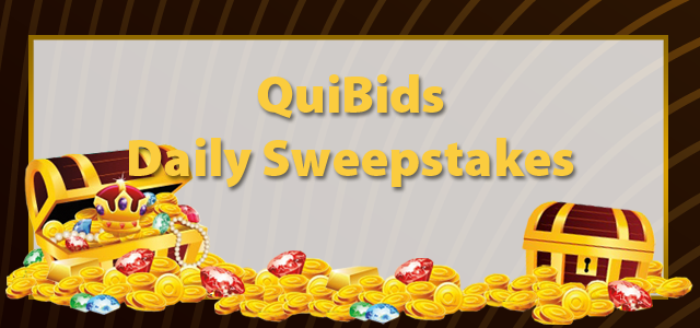 QuiBids Daily Sweepstakes - Win Free Bids