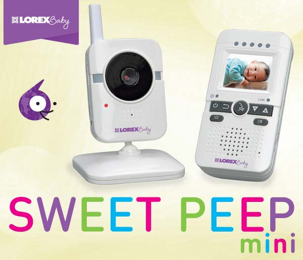 Lorex Wireless Baby Monitor with Color Screen and Talk-to-Baby Intercom (White)