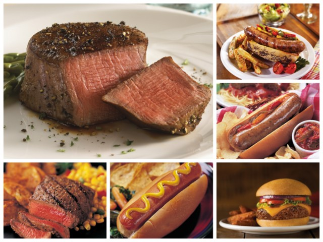 Omaha Steaks Gourmet Tailgate Combo - Mignons, Sirloins, Burgers, Franks, Brats and Sausages