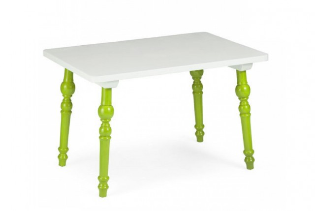 Zuo Modern Baby Alta Rectangular Table - Green & White (1)