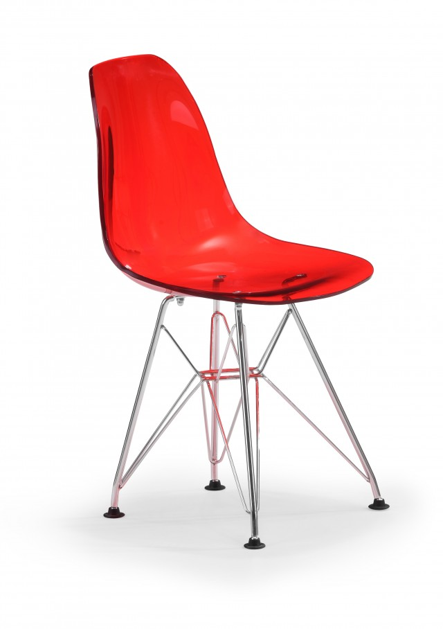 Zuo Modern Baby Spire Chair - Transparent Red