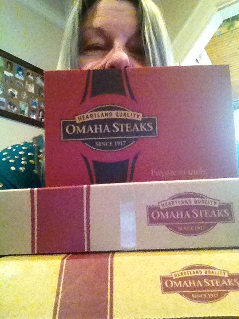 """Got another delivery of Omaha Steaks yesterday! This is another win of their delicious Chateaubriand along with garlic mashed potatoes, roasted vegetables and an assortment of cheesecakes for dessert. Have not tried the cheesecakes yet but the rest is absolutely THE BEST! We LOVE the Chateaubriand from OS! We had some last night from our last delivery and my husband even toasted to QuiBids before we ate! Thanks Q!"" - Shirley"