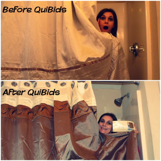 """Thank you for the quick bathroom transformation, QuiBids!"" - Genevive"