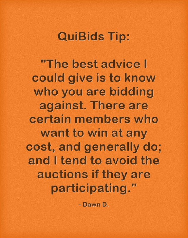QuiBids Bidding Tips