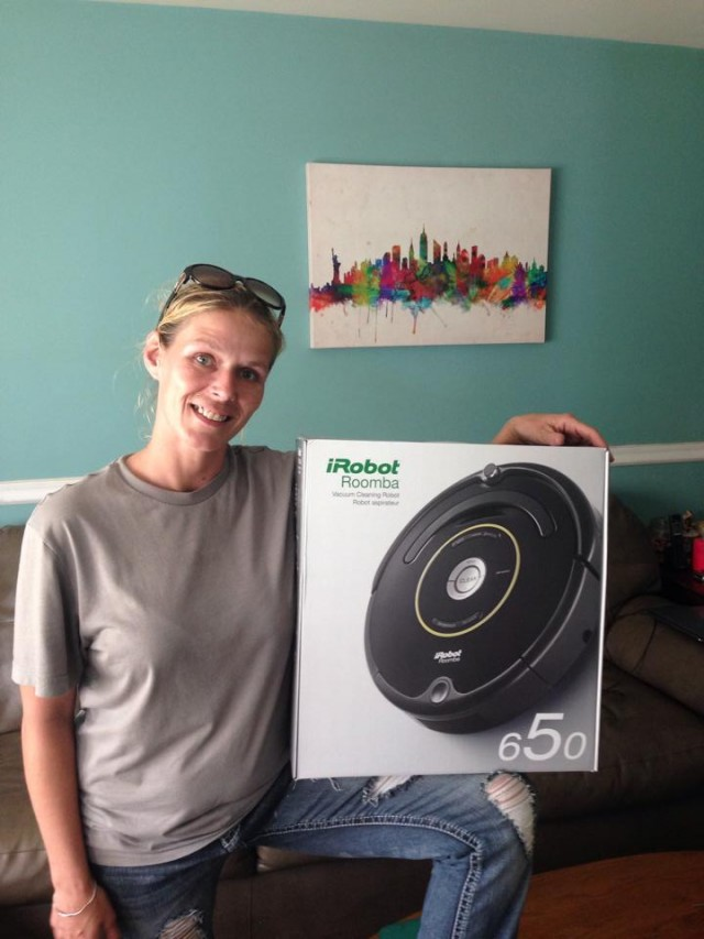 QuiBids' QuiBidder of the Week - Shawna - iRobot and painting