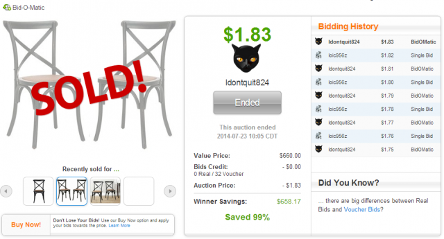 This Safavieh American Home Franklin Chair Set sold on QuiBids.com for $1.83!