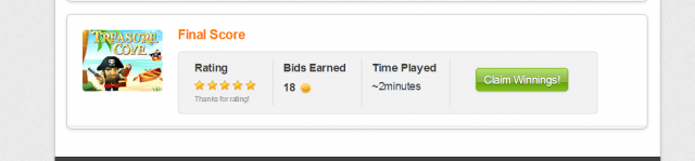 Rate a Gameplay on QuiBids for Free Bids