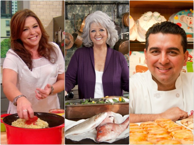 Rachael Ray, Paula Deen, and Cake Boss on QuiBids