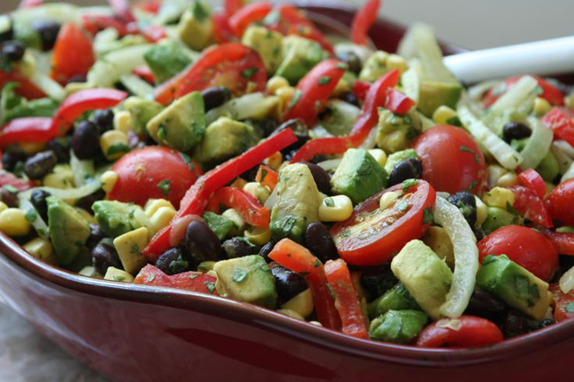 Black Bean, Corn, Avocado, and Tomato Salad