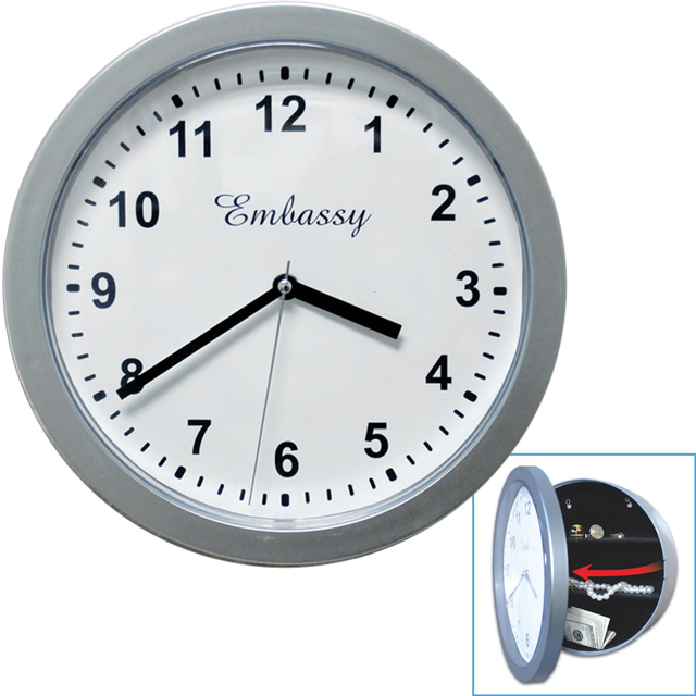 this is a real working clock with hidden safe to hide your valuables