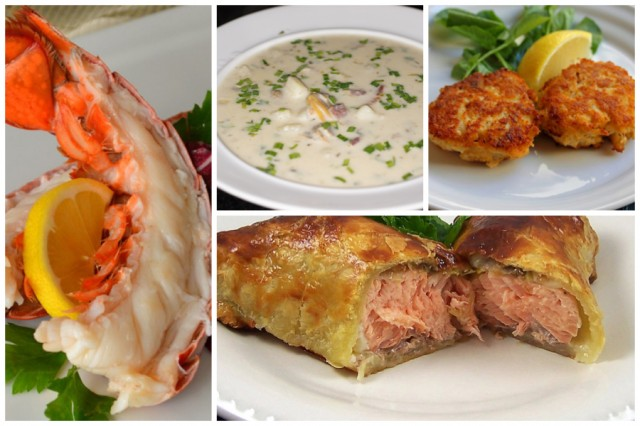 Lobster Tails and Salmon Wellington Dinner Package - QuiBids.com
